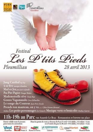 © Festival Les Petits Pieds – Christian LEROY Graphiste Bretagne Côtes-d'Armor Ploumilliau