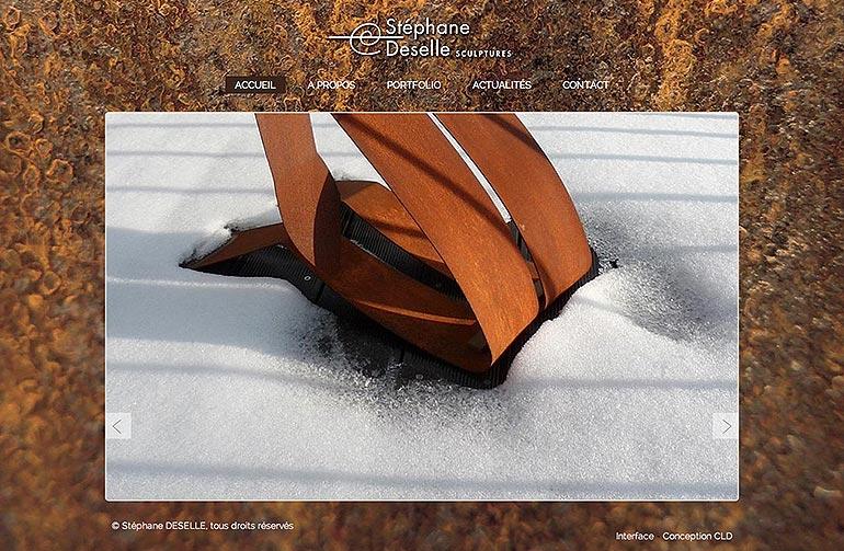 © Stéphane Deselle sculptures - site - Christian LEROY Graphiste Bretagne Côtes-d'Armor Ploumilliau