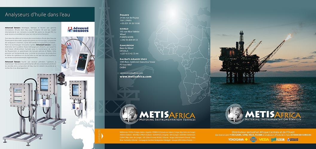 © METIS Africa - dépliant recto - Christian LEROY Graphiste Bretagne Côtes-d'Armor Ploumilliau