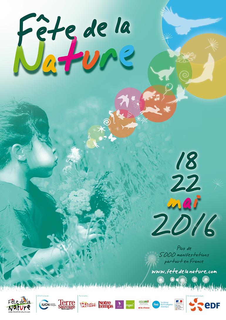 Fête De La Nature 2016 affiche © Christian LEROY D graphiste Bretagne Côtes-d'Armor Ploumilliau