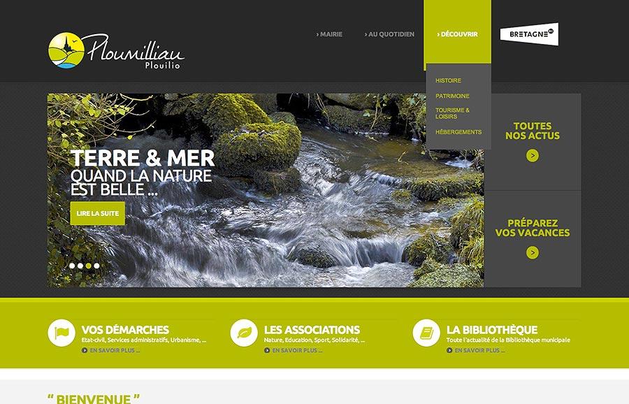 © Ploumilliau .bzh site internet - Christian LEROY D graphiste Bretagne Côtes-d'Armor Ploumilliau
