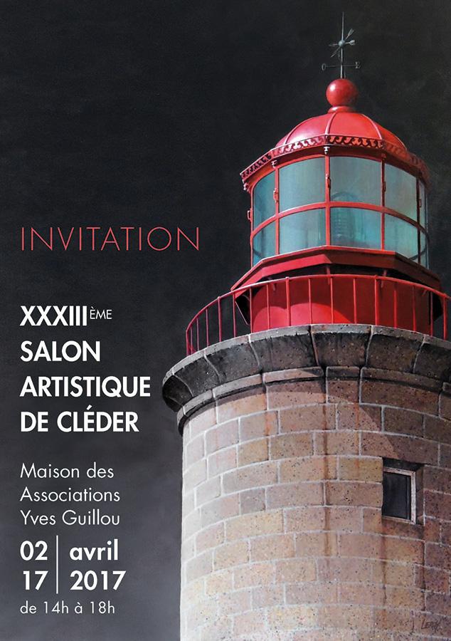 Salon Artistique de Cléder 2017 - Carton d'invitation (recto) © Christian LEROY