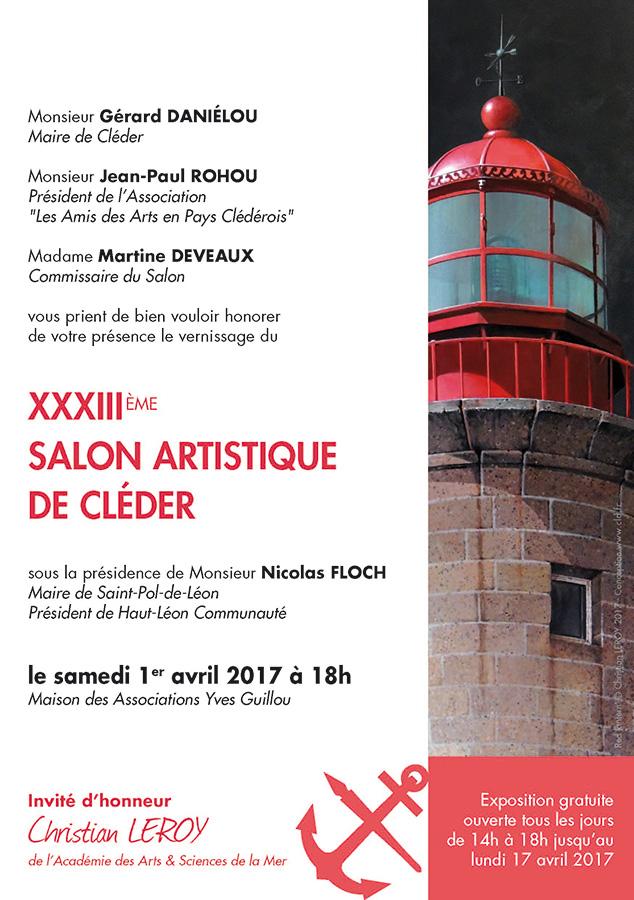 Salon Artistique de Cléder 2017 - Carton d'invitation (verso) © Christian LEROY