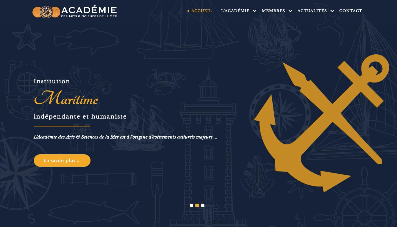 Academie des arts Sciences de la Mer site internet