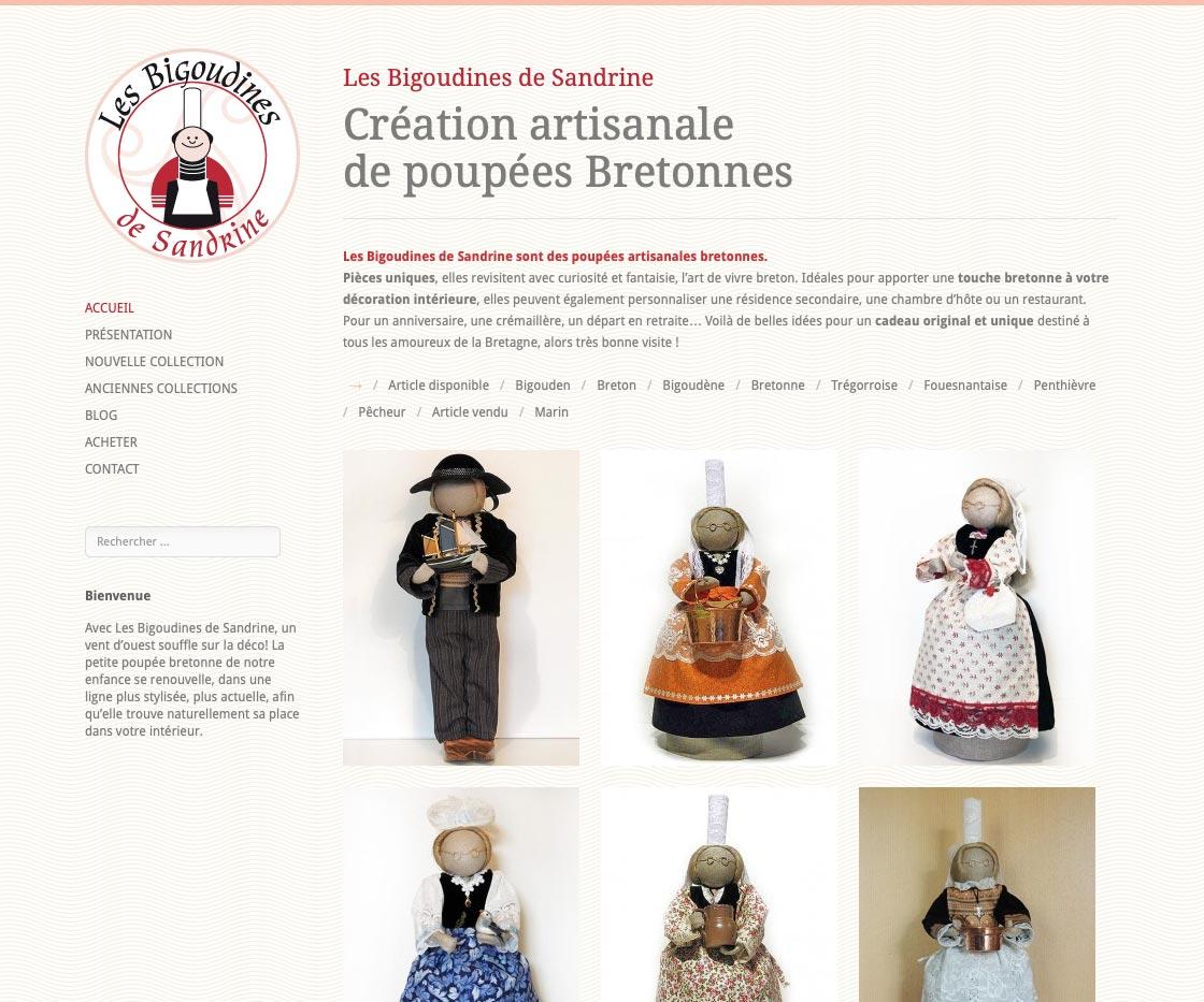 Bigoudines de Sandrine site internet