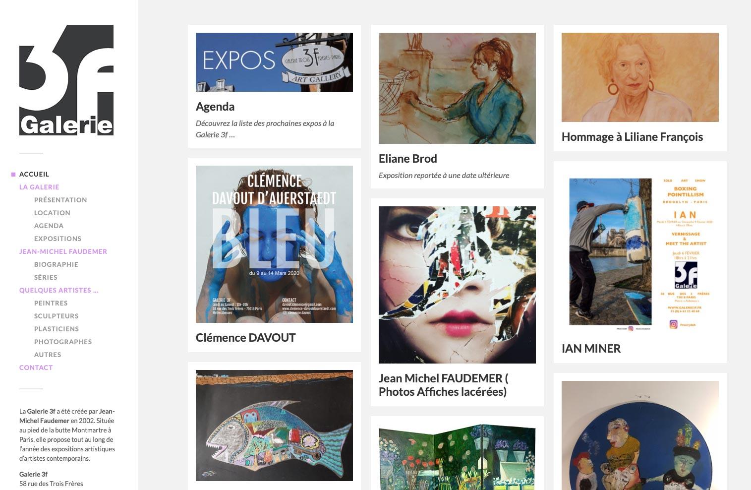 Galerie 3f site internet