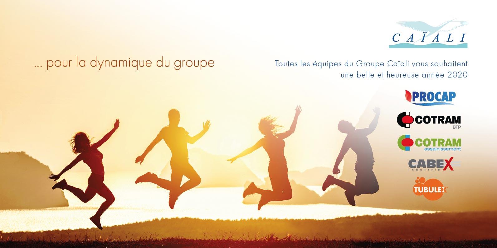 Groupe Caiali 3 cartes de voeux 2020 int