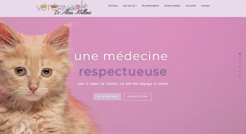 Alain Mullens vétérinaire - site internet et logo